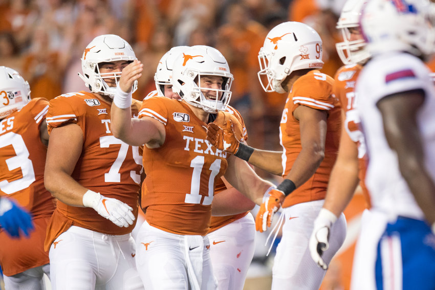 Texas quarterback Sam Ehlinger finished 23-of-27 passing for 279 yards and a pair of touchdowns Saturday night against Rice.