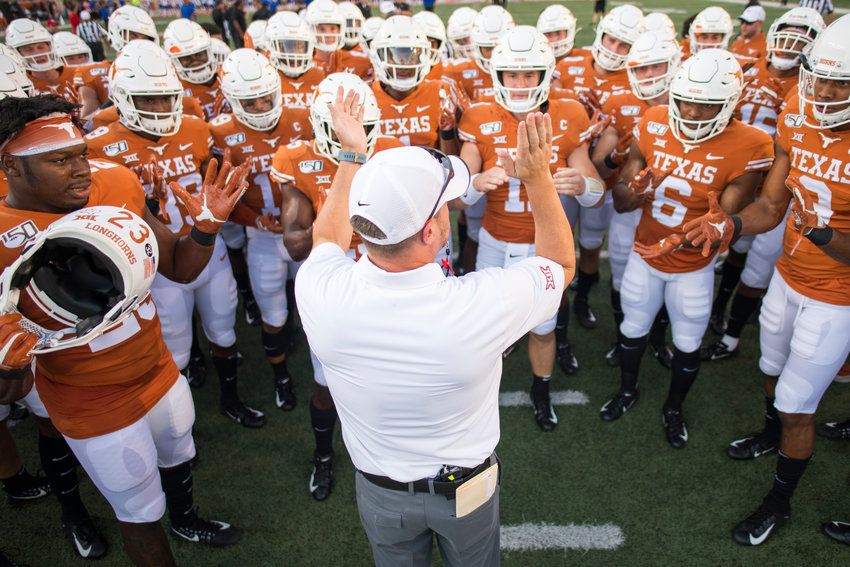 Tom Herman and the No. 12 Longhorns open Big 12 play against Oklahoma State on Saturday night at DKR