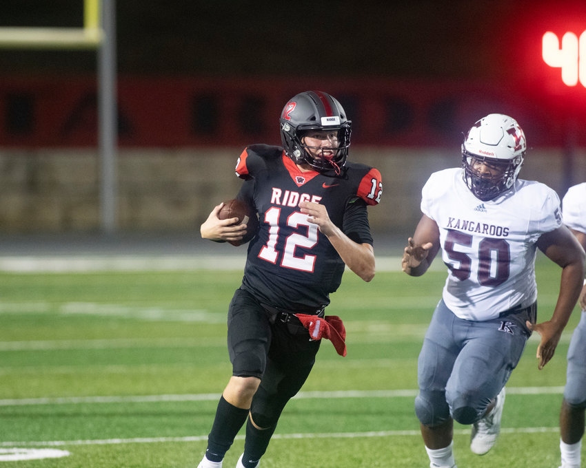 Vista Ridge quarterback Kyle Brown and the Rangers beat Westwood 46-43 Friday night at Dragon Stadium.