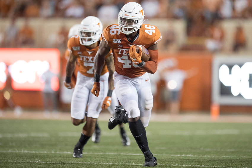 Texas linebacker Joseph Ossai will have even more pressure on him as the defense continues to suffer injuries to key players. The No. 11 Longhorns are on a bye this week before facing West Virginia on the road.