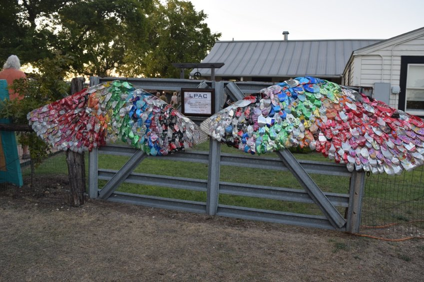 """The Leander Public Arts Board debuted the the """"Ariel"""" sculpture over last weekend during the Leander Bluegrass Festival."""