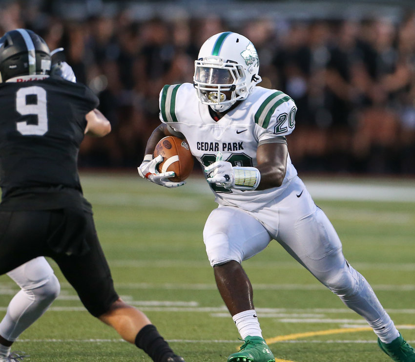 Cedar Park running back Kevin Adams paced the rushing attack, running for 73 yards on 10 carries in the Timberwolves' win over Georgetown on Friday night.