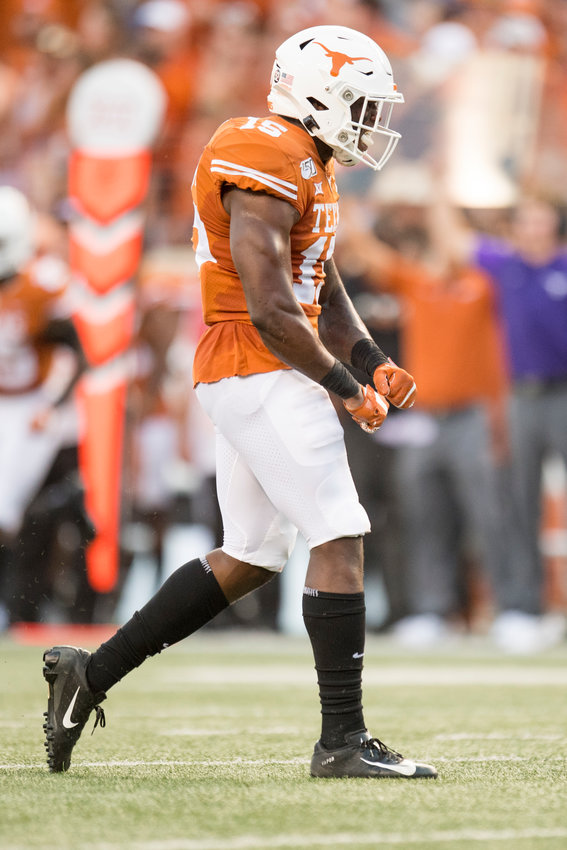 Texas defensive back Chris Brown is out for six weeks with a forearm fracture, head coach Tom Herman confirmed Monday at his weekly press conference. The Longhorns take on Kansas Saturday night at DKR-Texas Memorial Stadium.
