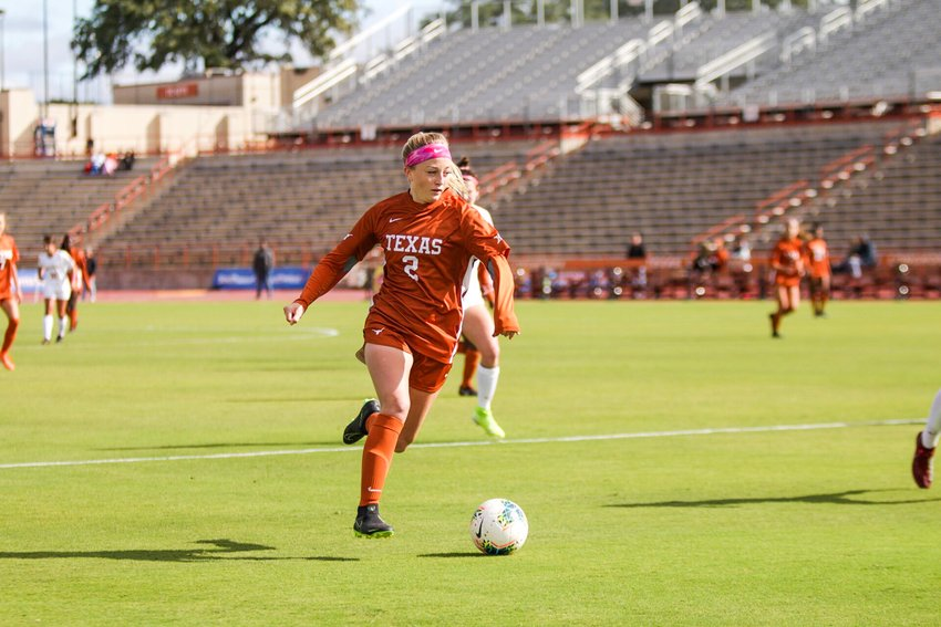 Haley Berg scored the game-winning goal, and Texas beat Iowa State 3-2 on Friday to move up to second place in the Big 12.