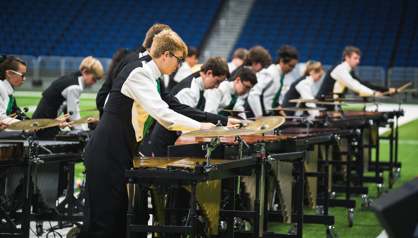 The Cedar Park High School Marching Band wins its third UIL state competition in a row on Tuesday, Nov. 5.
