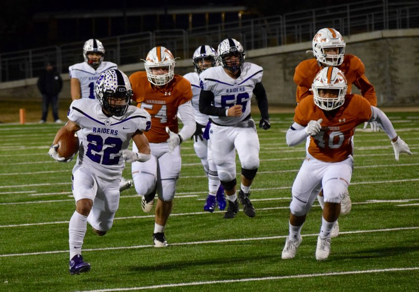 Cedar Ridge running back Deuce Vaughn finished with 19 carries for 292 yards and four rushing touchdowns, and the Raiders beat Westwood 77-69 on Friday to clinch a postseason berth.