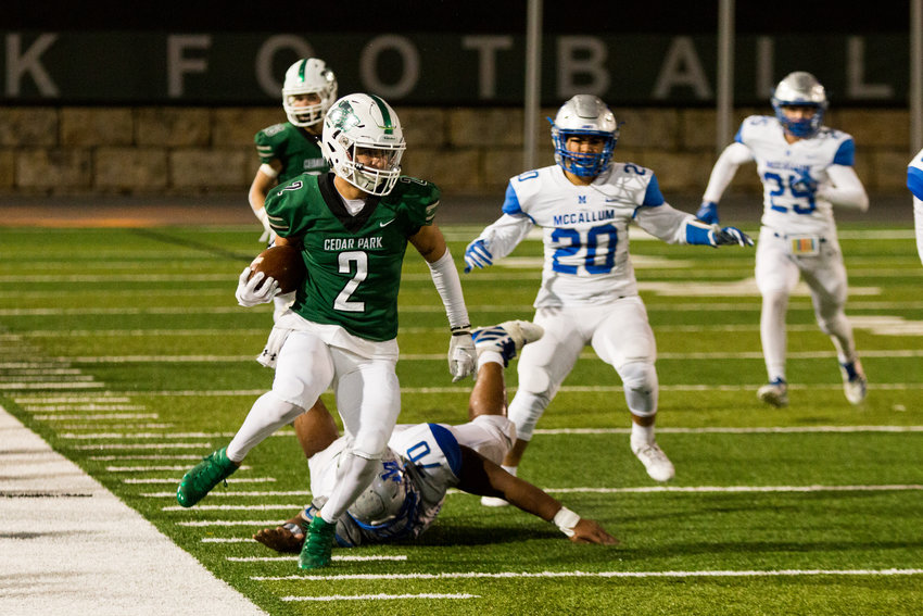Cedar Park rolled to a 49-10 win against McCallum in the first round of the playoffs on Thursday night. The Timberwolves will face off against either Kingwood Park or Friendswood next Saturday at NRG Stadium in Houston.
