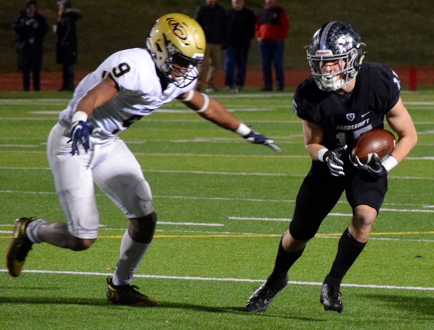 Blake Youngblood caught a touchdown, but Vandegrift lost to Klein Collins 28-14 in the area round of the playoffs Friday night at Monroe Stadium.