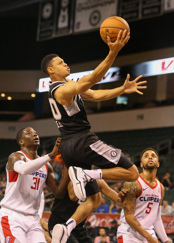 Austin Spurs guard Jordan Green (30) goes up for a shot during an NBA G-League basketball game between the Austin Spurs and the Agua Caliente Clippers on Friday, Nov. 30, 2018 in Cedar Park, TX.