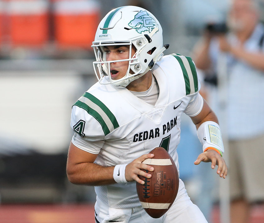 Cedar Park junior quarterback Ryder Hernandez was named District 11-5A DI MVP after passing for more than 3,000 yards and more than 30 touchdowns this season.