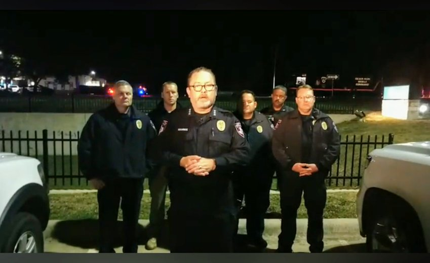 Cedar Park Chief of Police Sean Mannix spoke to the media early Sunday morning, Dec. 22, about the officer-involved shooting that occurred late Saturday, Dec. 21, in the 900 block of Bagdad Street in Cedar Park.