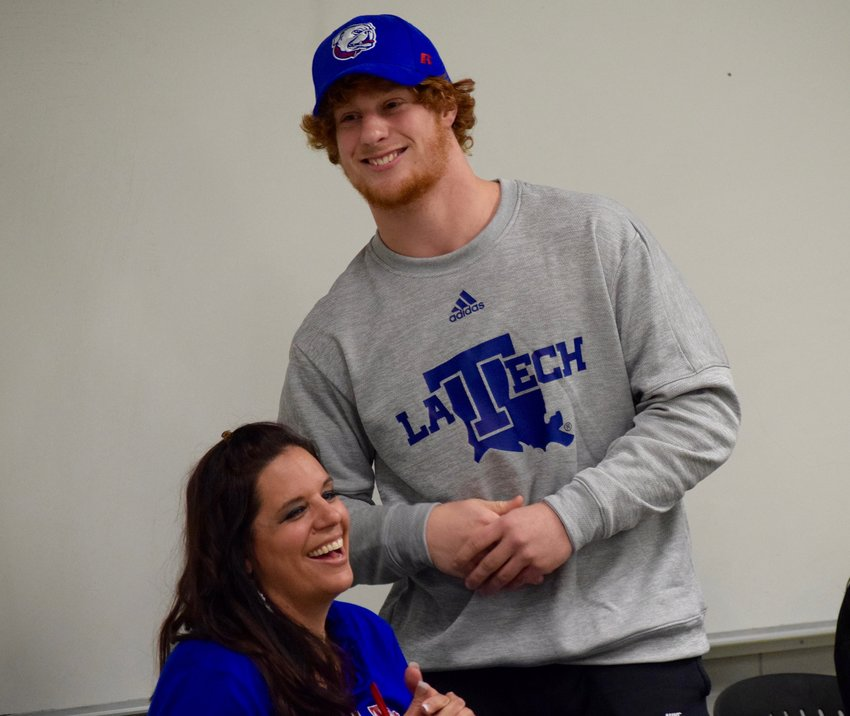 Cedar Park defensive lineman Ben Bell signed his National Letter of Intent on Wednesday to play football at Louisiana Tech.