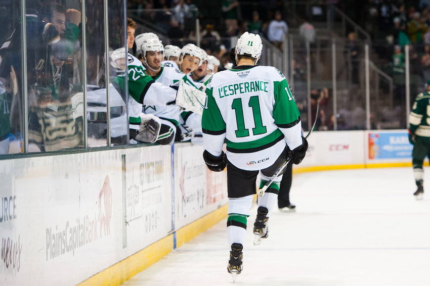 Texas forward Joel L'Esperance has been named to the AHL All-Star team for the second straight season.