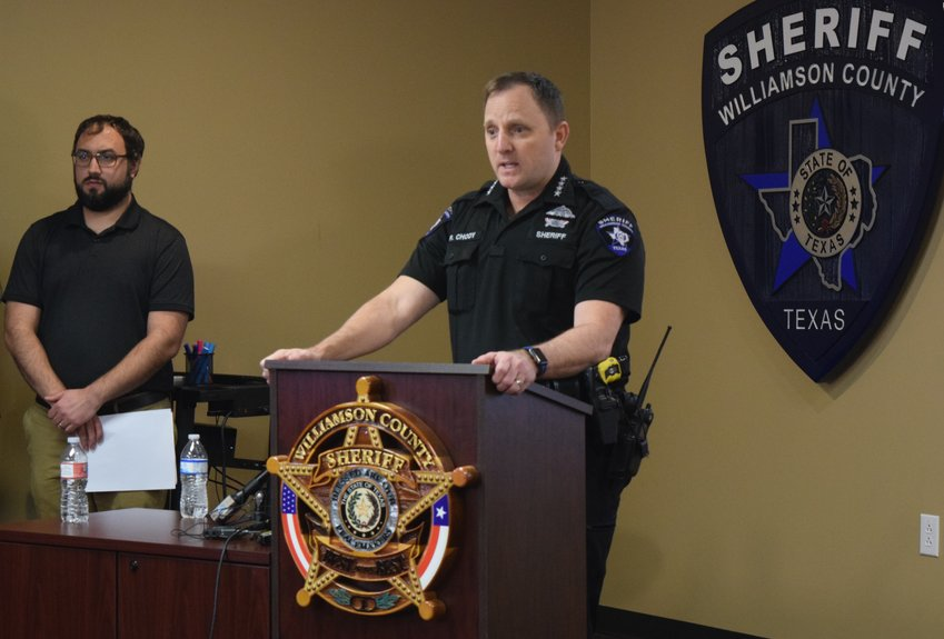 "Williamson County Sheriff Robert Chody announces that the Williamson County Sheriff's Office has positively identified the victim of a 30-year-old cold case as Sue Ann Huskey, also known as ""Corona girl,"" at a press conference on Wednesday."
