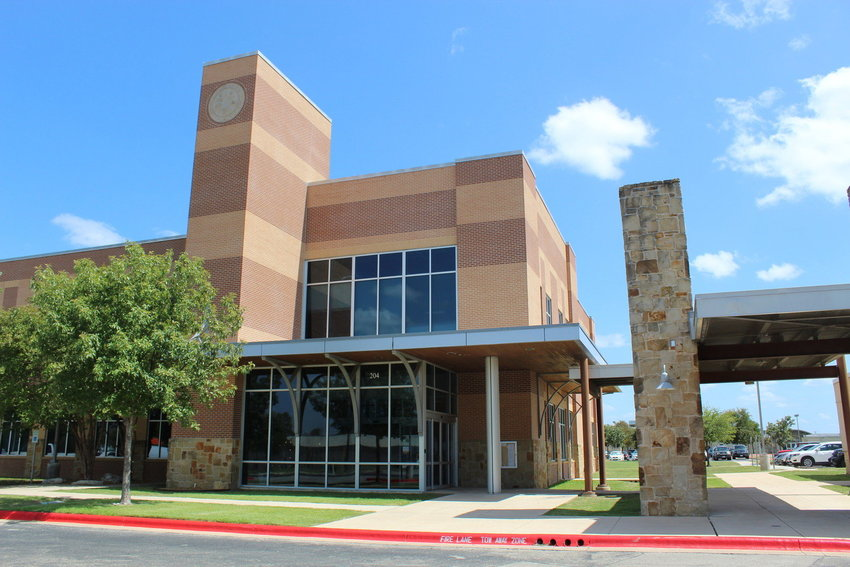The Leander Independent School District Administration Office, located at 204 W. South St., Leander.