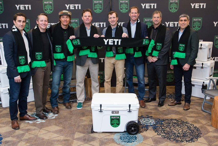 Austin-based brand YETI was named the jersey sponsor and a Founding Partner of Austin FC on Monday.