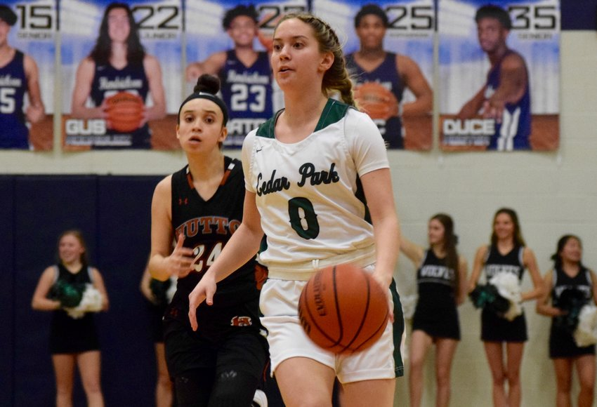 Hanna Wheeler and Cedar Park beat Hutto 65-24 in the Bi-District round on Monday night to advance to the Area Round of the playoffs.