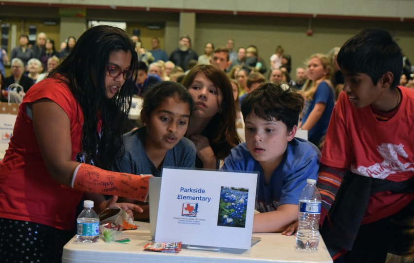 Parkside Elementary students work as a team to answer questions at the 15th Annual Battle of the Bluebonnets on Feb. 13.