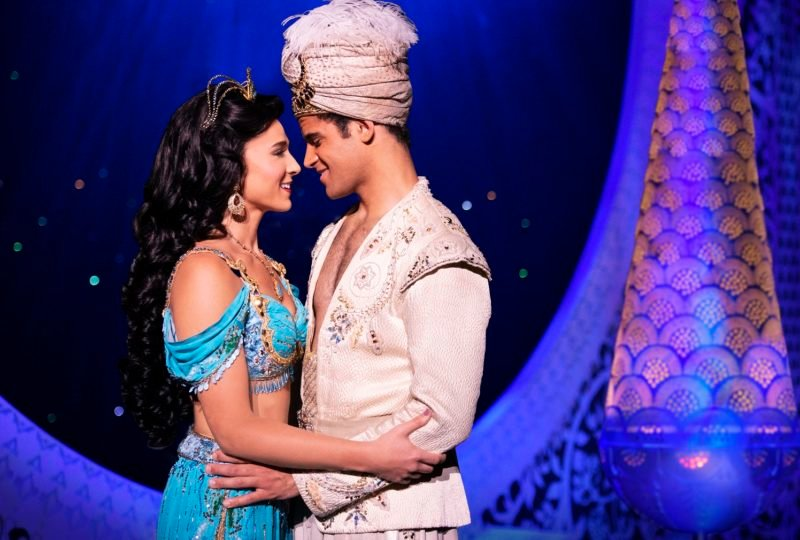Disney Theatrical Productions under the direction of Thomas Schumacher presents Aladdin, the US tour, music by Alan Menken, lyrics by Howard Ashman and Tim Rice, book and additional lyrics by Chad Beguelin, photographed: Clinton Greenspan (Aladdin), Lissa deGuzman (Jasmine), Zach Bencal (Babkak), Jef Feder (Kassim), Philippe Arroyo (Omar), Jonathan Weir (Jafar), Jay Paranada (Iago) directed and choreographed by Casey Nicholaw. On stage at the Bass Concert Hall through March 22. Call Broadway   Austin at 800-731-SHOW (7469) for tickets and information.