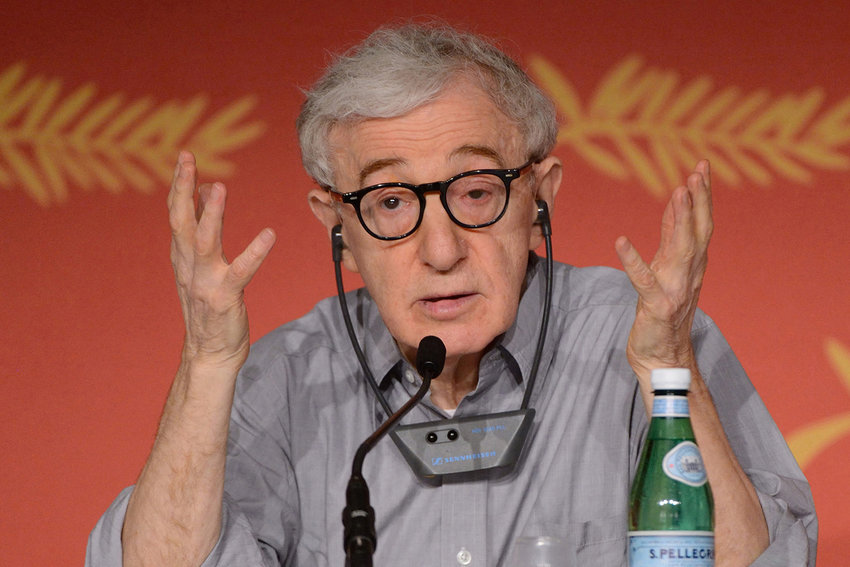 Woody Allen, shown at a press conference as part of the 69th Cannes Film Festival in Cannes, France, on Wednesday, May 11, 2016. On Thursday, staff members announced they were walking out of the Hachette New York offices in protest of Allen's autobiography, scheduled to publish April 7. (Aurore Marechal/Abaca Press/TNS)