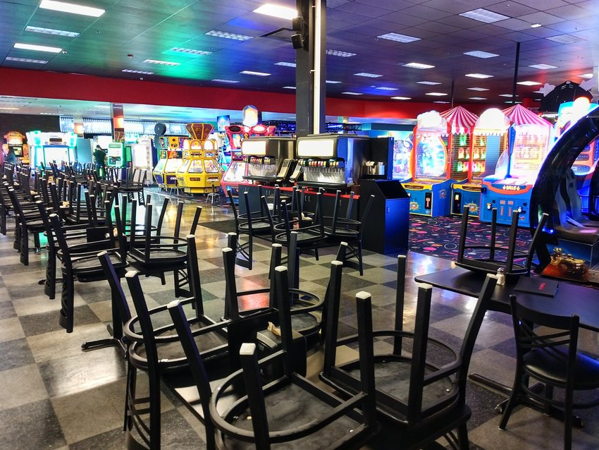 Pinballz Lake Creek located near Cedar Park was one of the few entertainment venues still open Friday despite statewide orders closing their bars and dine-in areas.