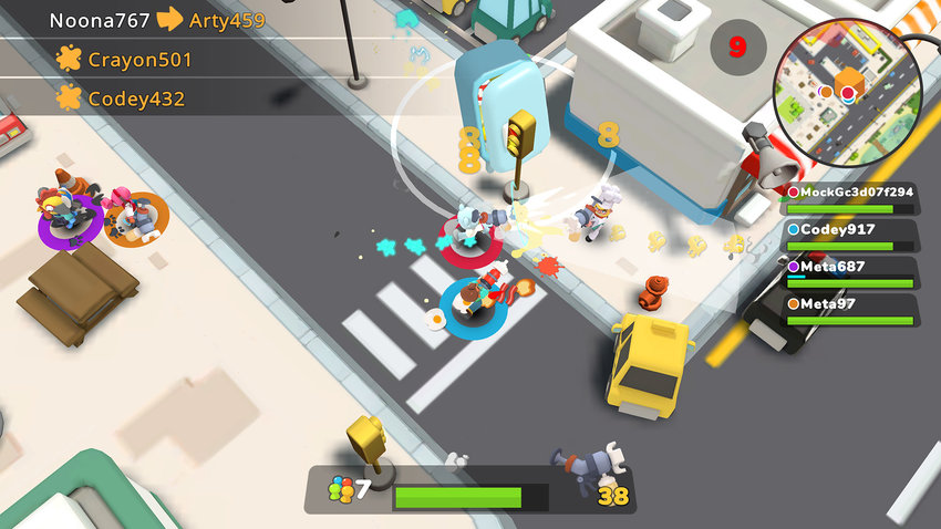 """It's a crazy food fight in """"Butter Royale"""" on Apple Arcade. (Mighty Bear Games)"""