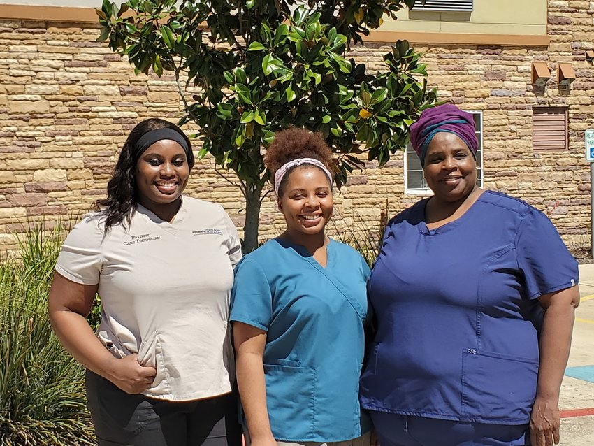 Cedar Park nurse Elisheba Zarahiah and her two daughters Jordan and Aiah, who all work in the medical field, have been forced to live in a hotel for a month to avoid potentially infecting family members with COVID-19 due to their jobs working with patients and conducting medical tests.