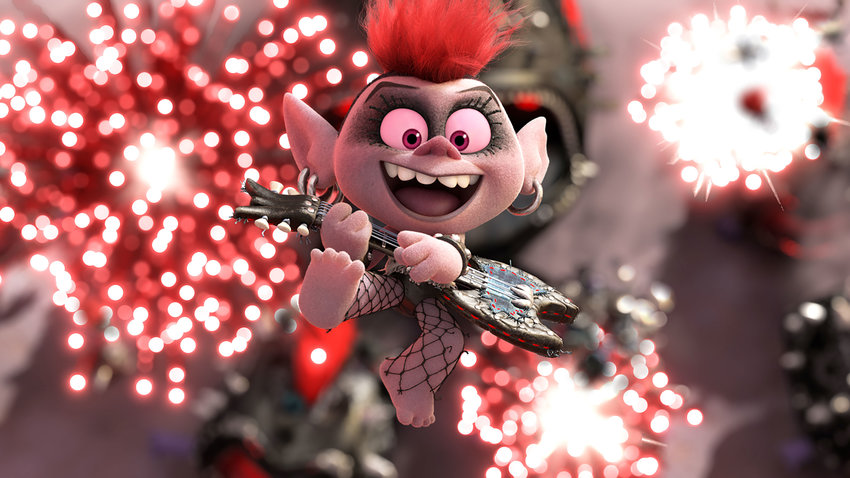 Queen Barb (voiced by Rachel Bloom) in the movie 'Trolls World Tour.' (DreamWorks Animation)
