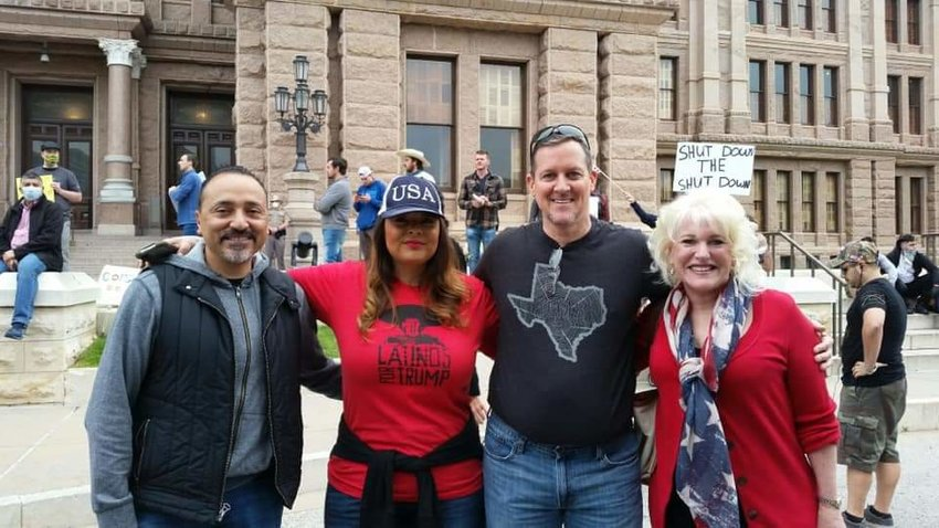 Council member Tim Kelly and Dorian Chavez faced a firestorm of criticism Saturday over attending a protest without masks that took place outside the State Capitol. They were calling for Gov. Greg Abbott to reopen all businesses and repeal his emergency order.