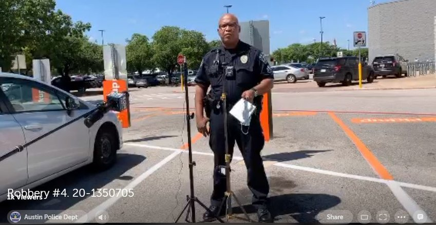 The Austin Police Department provided an update Thursday on the robbery of a Northwest Austin Walmart located near Cedar Park.