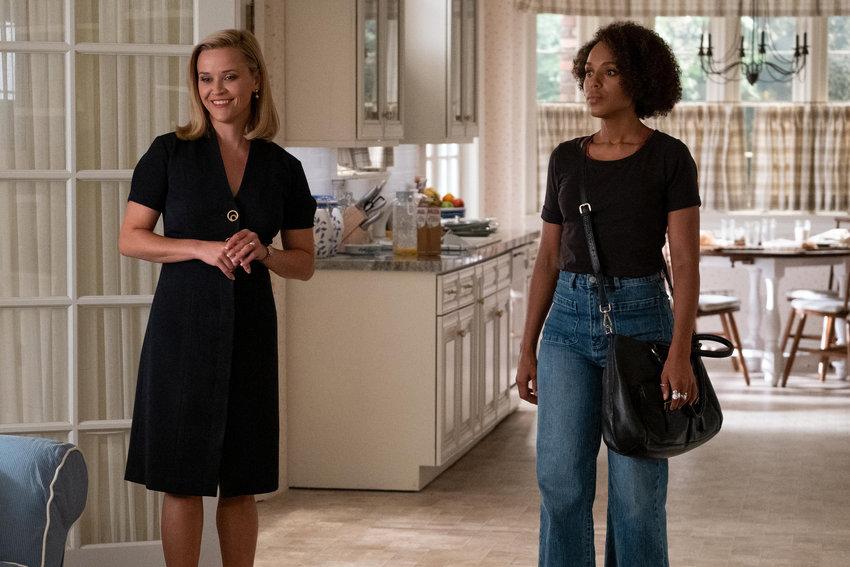"Elena (Reese Witherspoon) and Mia (Kerry Washington) in ""Little Fires Everywhere."" (Erin Simkin/Hulu/TNS)"