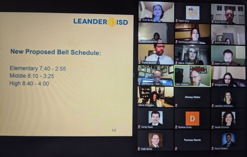 The Leander ISD Board of Trustees is expected to take action on the triple-tier bell schedule at their next meeting Thursday, May 21.