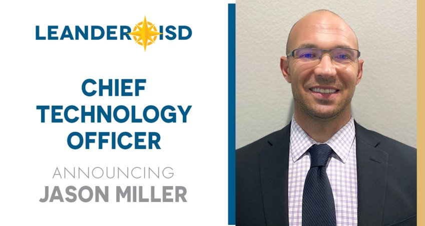 Beginning July 6, Jason Miller will be leading the Technology Services departments as well as the district's vision for technology and innovation.