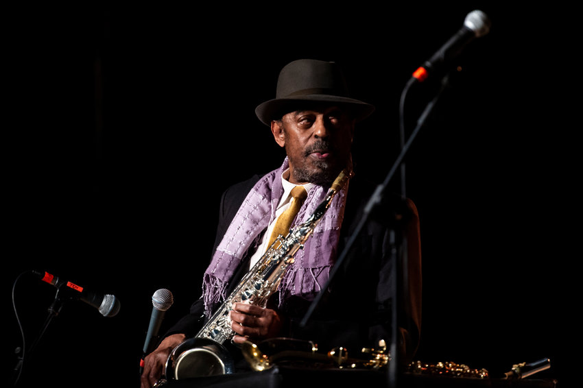 Saxophone player Archie Shepp performs live with his quartet  featuring Marion Rampal during Torino Jazz Festival at OGR on April 26, 2018 in Turin, Italy. (Giorgio Perottino/Getty Images for OGR/TNS)