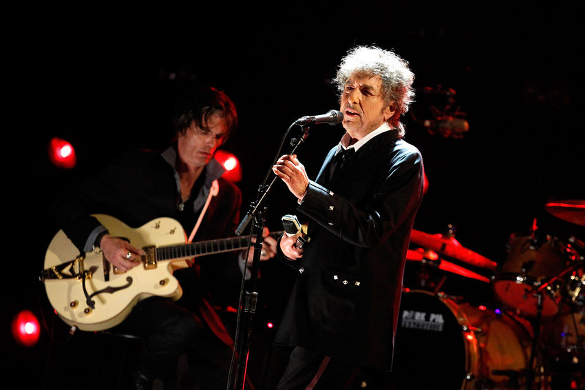 Musician Bob Dylan onstage during the 17th Annual Critics' Choice Movie Awards held at The Hollywood Palladium on Jan. 12, 2012 in Los Angeles, Calif. (Christopher Polk/Getty Images/TNS)