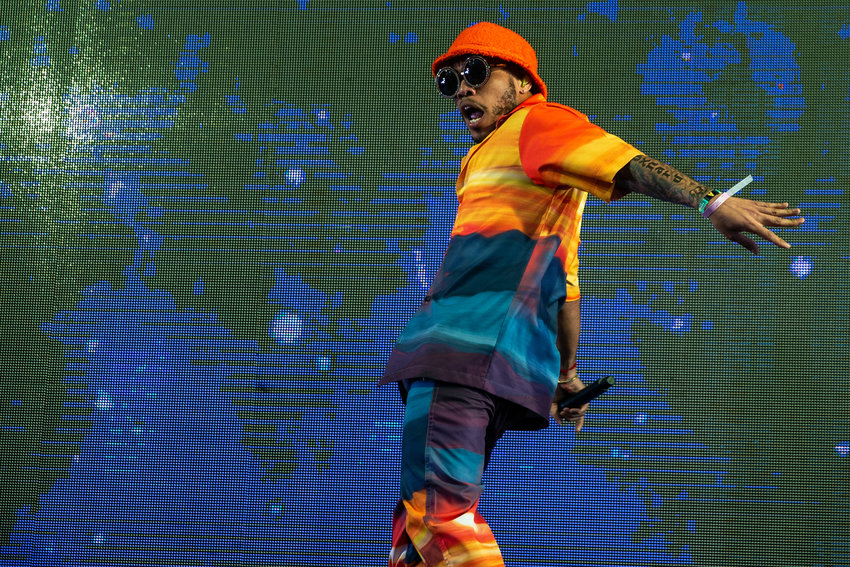 Anderson .Paak performs at the Coachella Stage during Weekend 2 of the Coachella Valley Music and Arts Festival at the Empire Polo Club in Indio, California on Friday, April 19, 2019. (Kent Nishimura/Los Angeles Times/TNS)