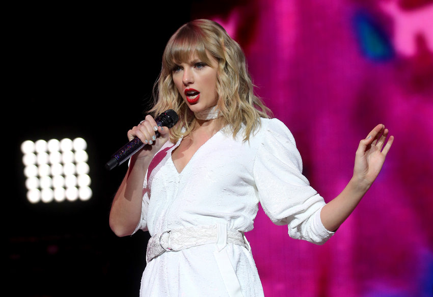 Taylor Swift performs on stage during day two of Capital's Jingle Bell Ball with Seat on December 8, 2019 at London's O2 Arena. (Isabel Infantes/PA Wire/Zuma Press/TNS)