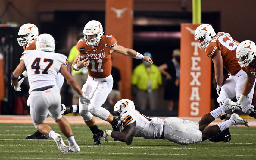 Sam Ehlinger and Texas lost to Oklahoma on Saturday. The Longhorns have a bye this week and are next scheduled to host Baylor on Oct. 24.
