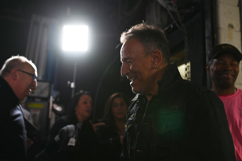 Bruce Springsteen appears backstage during the 13th annual Stand Up for Heroes to benefit the Bob Woodruff Foundation at The Hulu Theater at Madison Square Garden on November 04, 2019 in New York City. (Bryan Bedder/Getty Images for The Bob Woodruff Foundation/TNS)