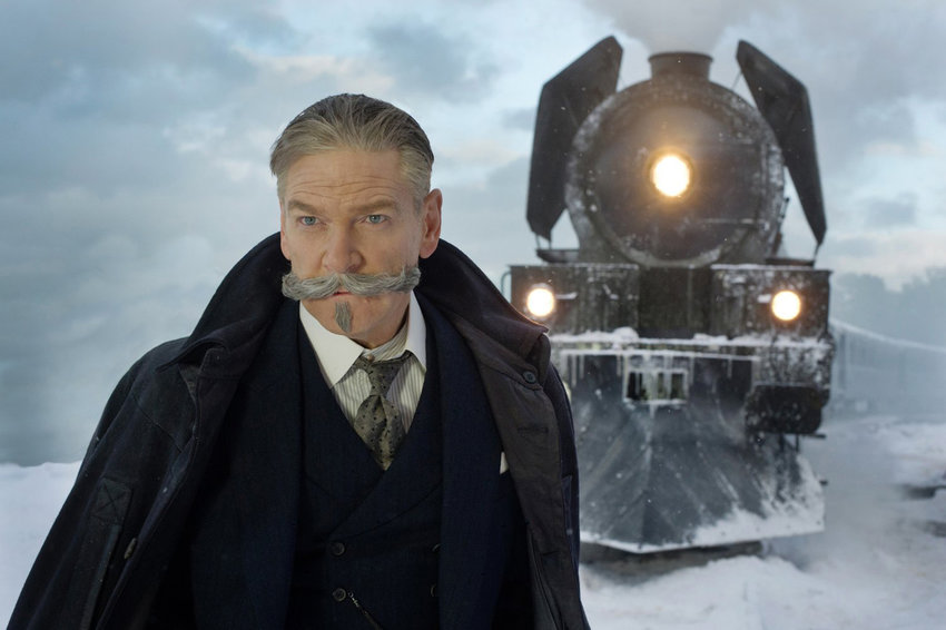 """Kenneth Branagh as Hercule Poirot in """"Murder on the Orient Express."""" (Twentieth Century Fox/TNS)"""