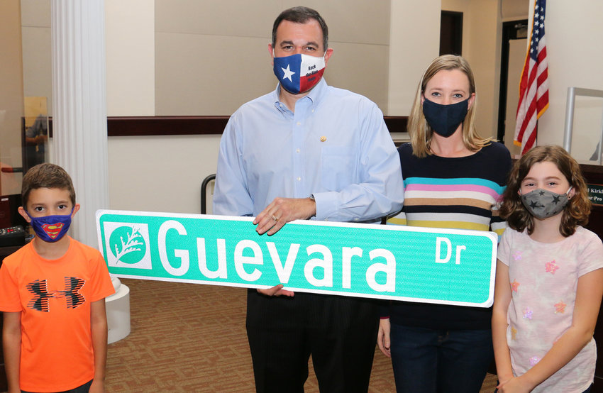 Former Cedar Park City Council member Mike Guevara was one of two outgoing Council members honored Thursday, Nov. 5, 2020.