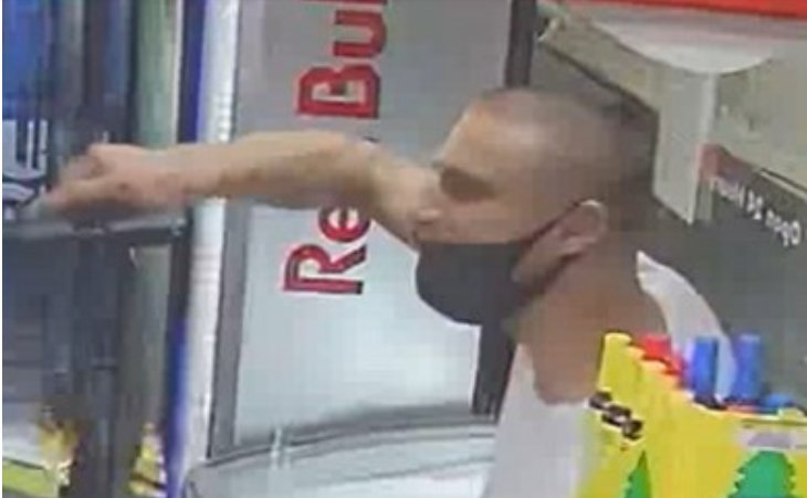 The Austin Police Department is seeking a man pictured here who drew a gun on another person at a Shell gas station back in September.