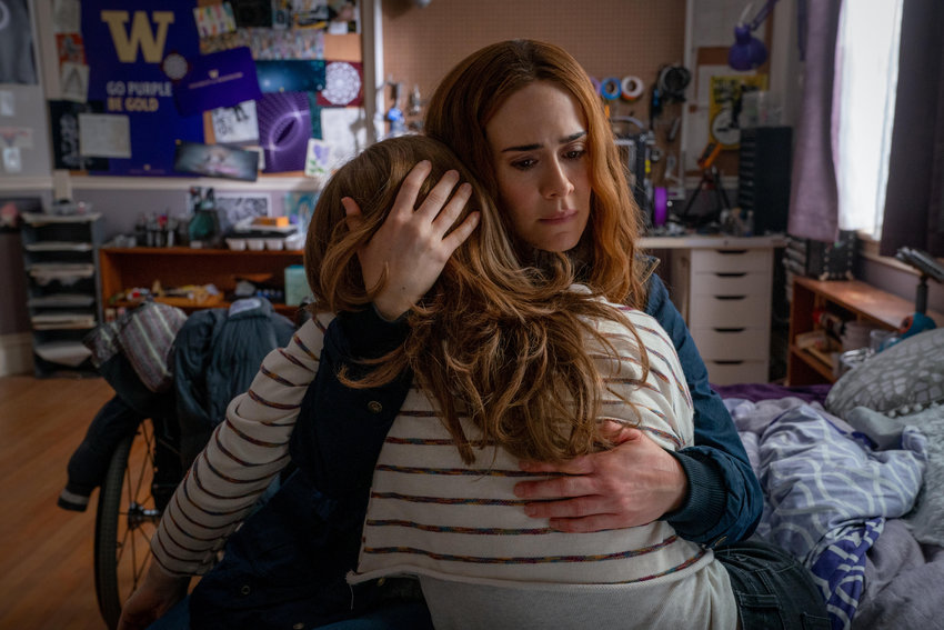 There's something unnatural, even sinister about the relationship between Chloe (Kiera Allen) and her mom, Diane (Sarah Paulson). (Allen Fraser/Hulu)