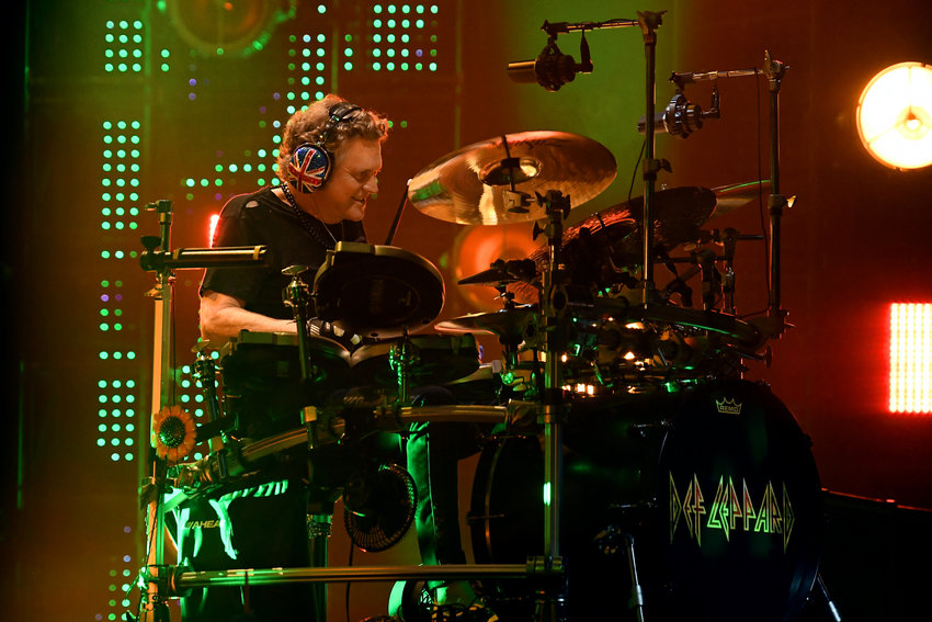 Inductee Rick Allen of Def Leppard performs at the 2019 Rock & Roll Hall Of Fame Induction Ceremony - Show at Barclays Center on March 29, 2019 in New York City. (Dimitrios Kambouris/Getty Images/TNS)