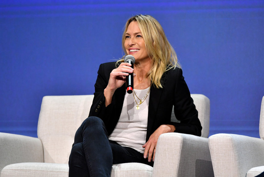 "Robin Wright speaks onstage at the Netflix ""House of Cards"" FYSEE Event at Raleigh Studios on June 04, 2019, in Los Angeles, California. (Emma McIntyre/Getty Images for Netflix/TNS)"