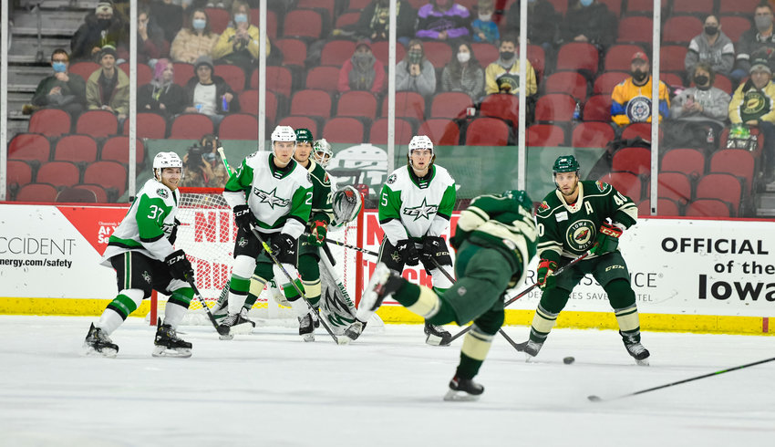 The Texas Stars and Iowa Wild split the first two games of their season-opening series Friday and Saturday in Iowa. Texas opens the home schedule at the HEB Center on Friday night.