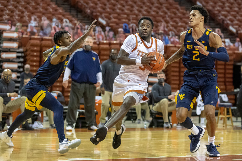 Courtney Ramey scored a career-best 28 points in the loss to West Virginia on Saturday. The Longhorns close out the home schedule Tuesday against Kansas.