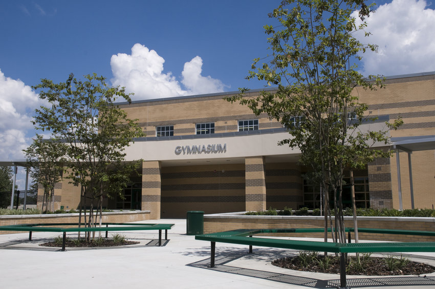 A new suburban middle school in Florida. Real estate values closely tied to perceived school quality in some areas.