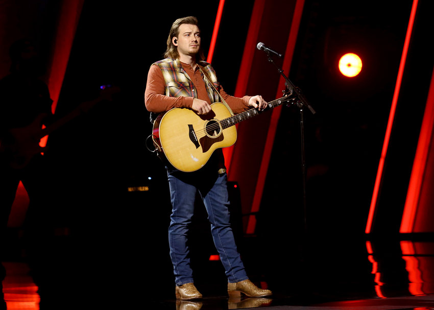Morgan Wallen performs onstage at Nashville's Music City Center for The 54th Annual CMA Awards broadcast on Wednesday, November 11, 2020, in Nashville, Tennessee.  (Terry Wyatt/Getty Images for CMA/TNS)