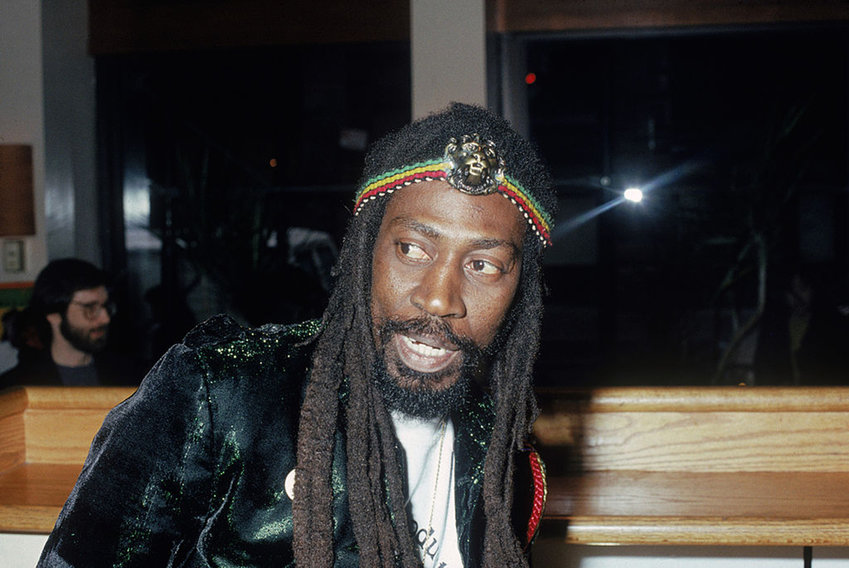 Jamaican reggae singer, songwriter and original member of Bob Marley's band The Wailers, Bunny Wailer, circa 1975. (Photo by Hulton Archive/Getty Images/TNS)